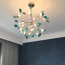 Art Decor multi color chandelier Living room Bedroom Kitchen stone lustre LED salon Lighting tree branch