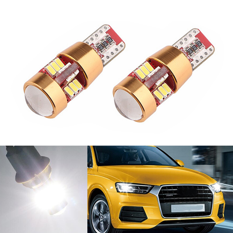 BOAOSI 2x Canbus Car Wedge Light W5W T10 LED 3014 SMD Auto Lamp Bulb For <font><b>AUDI</b></font> A2 A3 8L 8P A4 B5 B6 <font><b>A6</b></font> 4B 4F A8 D2 TT <font><b>C5</b></font> C6 image