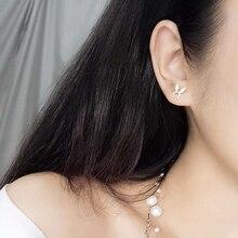 Ruifan Promotion Wholesale Rabbit Ears 100% 925 Sterling Silver Stud Earrings for Women Girls Small Fine Jewelry YEA136