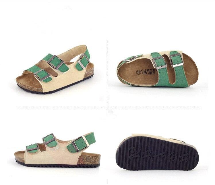 KINE PANDA Summer Big Girls Kids Gladiator Sandals School Student Girl Boys Cork Sandals Outdoor Beach Holiday Flatform Shoes