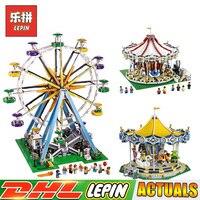 LEPIN 15012 City Expert Ferris Wheel 15013 City Street Carousel 15036 Carousel Blocks Compatible LegoINGlys 10247 10196 10257