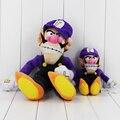 Dois Tamanho de Pelúcia Super Mario Bros Waluigi Roxo Waluigi Stuffed Plush Com Tag