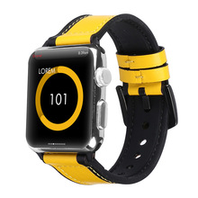 Genuine Calf Leather Loop For Apple Watch Bands 44mm 42mm 40mm 38mm For iWatch Series 1 2  3 4 Vintage Strap Wrist Band стоимость