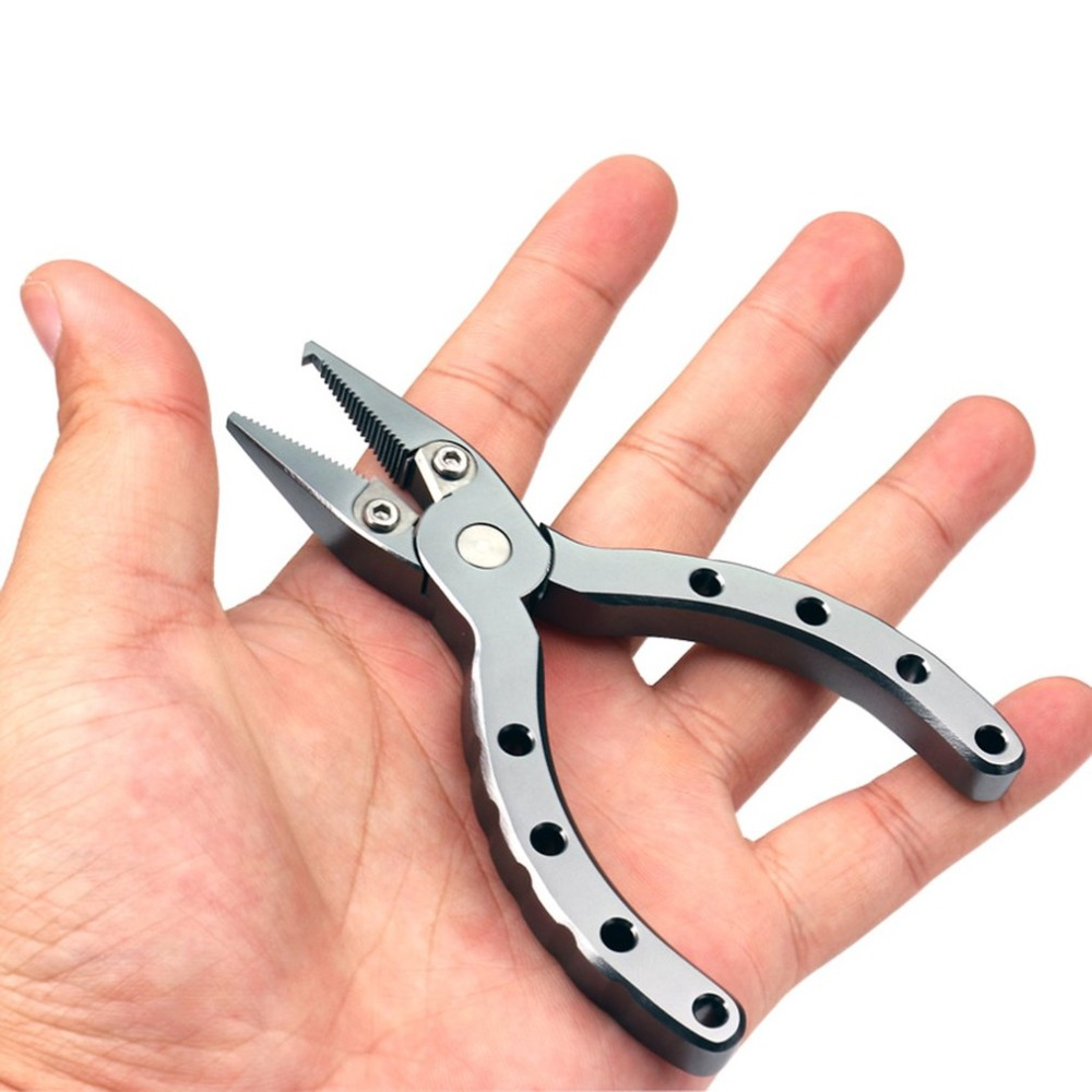 Mini Portable Aluminum Alloy Fishing Pliers Braid Cutter Split Ring Pliers Hook Remover Outdoor Fishing Tackle Tool