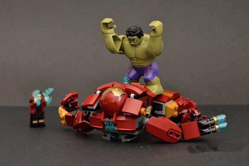 Новый Супергерои Халк Buster Бесконечность войны fit legoings фигура Мстителей marvel строительные Конструкторы кирпичи 76031 Альтрона Железный человек игрушка