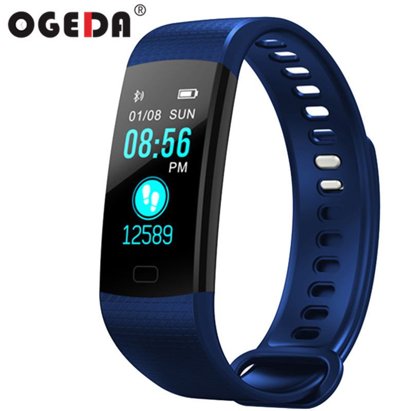 Hot Outdoor Sport Fitness Armband Y5 Smart Armband Bluetooth Herzfrequenz Kalorien Monitor Fitness Tracker LED Farbe Smart Uhr