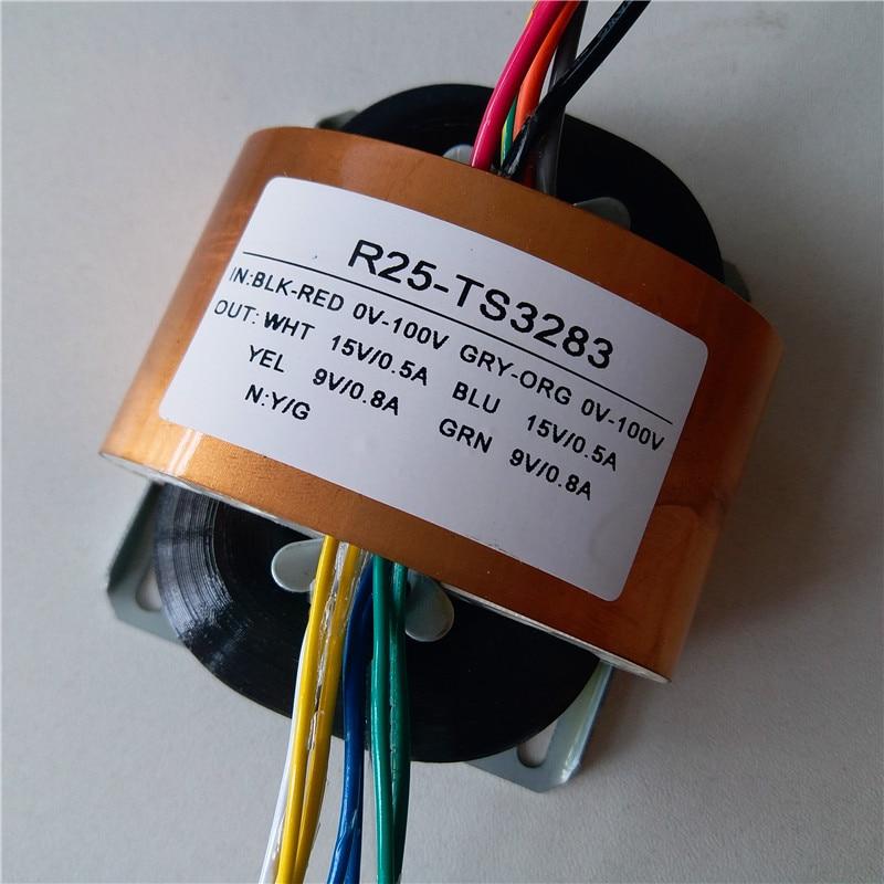 2*15V 0.5A 2*9V 0.8A R Core Transformer 30VA R25 custom transformer 0-100V/0-100V with copper shield for Power amplifier2*15V 0.5A 2*9V 0.8A R Core Transformer 30VA R25 custom transformer 0-100V/0-100V with copper shield for Power amplifier
