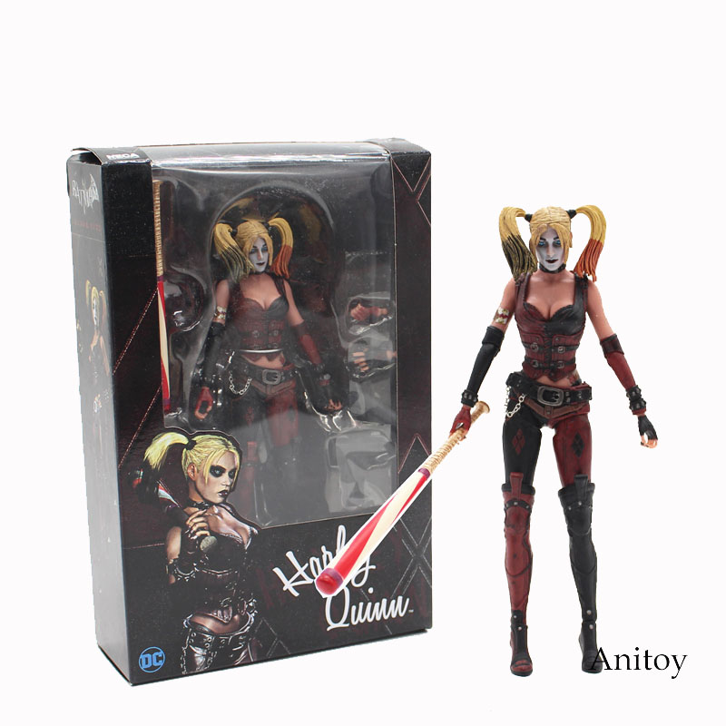 NECA Batman Arkham City Harley Quinn 1/4 Scale PVC Action Figure Collectible Model Toy 16cm KT3754 new hot christmas gift 21inch 52cm bearbrick be rbrick fashion toy pvc action figure collectible model toy decoration