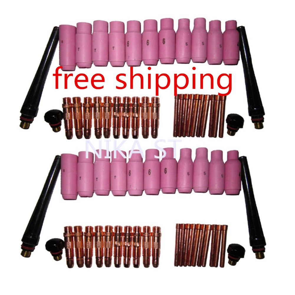 68pcs TIG Torch Consumables Accessories KIT for TIG Welding Torch PTA DB SR WP 17 18 26  цены