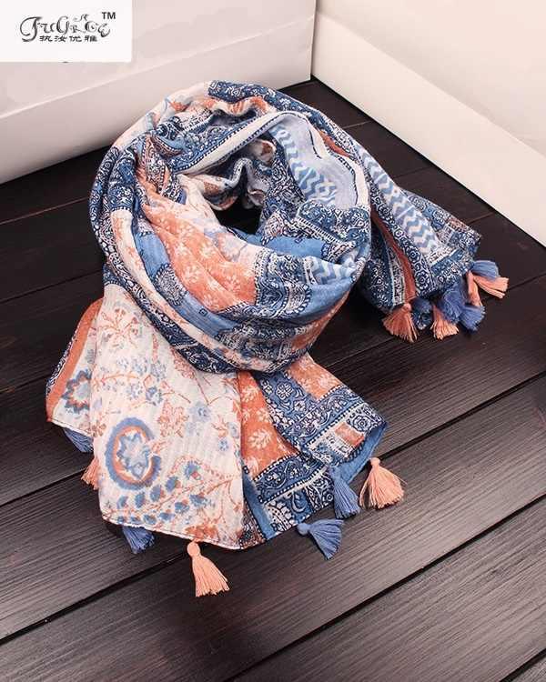 Chal grande de otoño e invierno, bufanda de mujer salvaje de viento nacional, bufanda thk, bufanda de algodón y lino mantillas de doble propósito