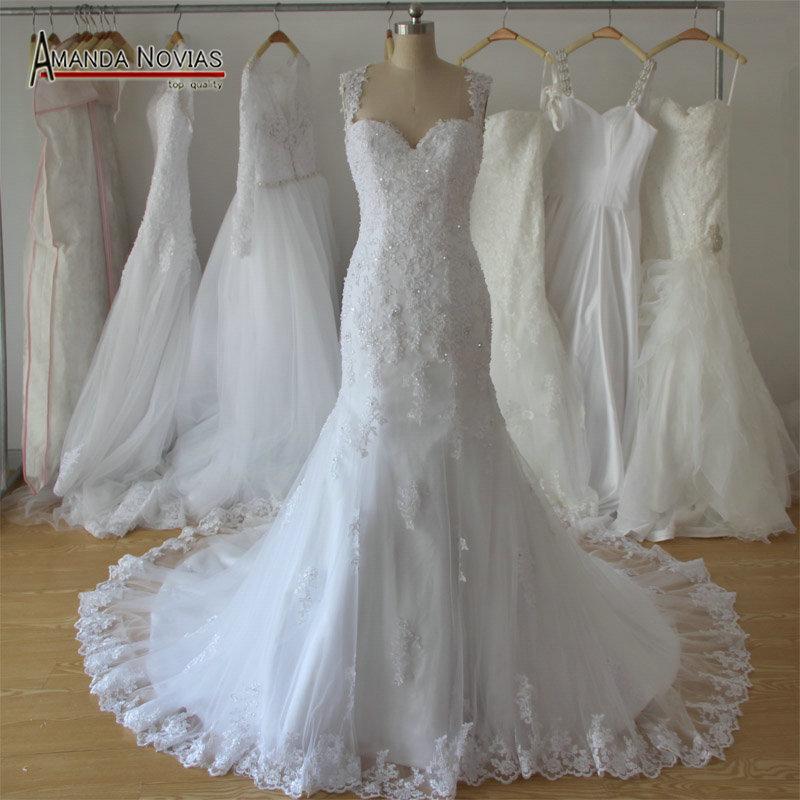 Amanda Novias 2018 New Model Mermaid Wedding Gown Beading: Aliexpress.com : Buy New Design Mermaid Lace Beading