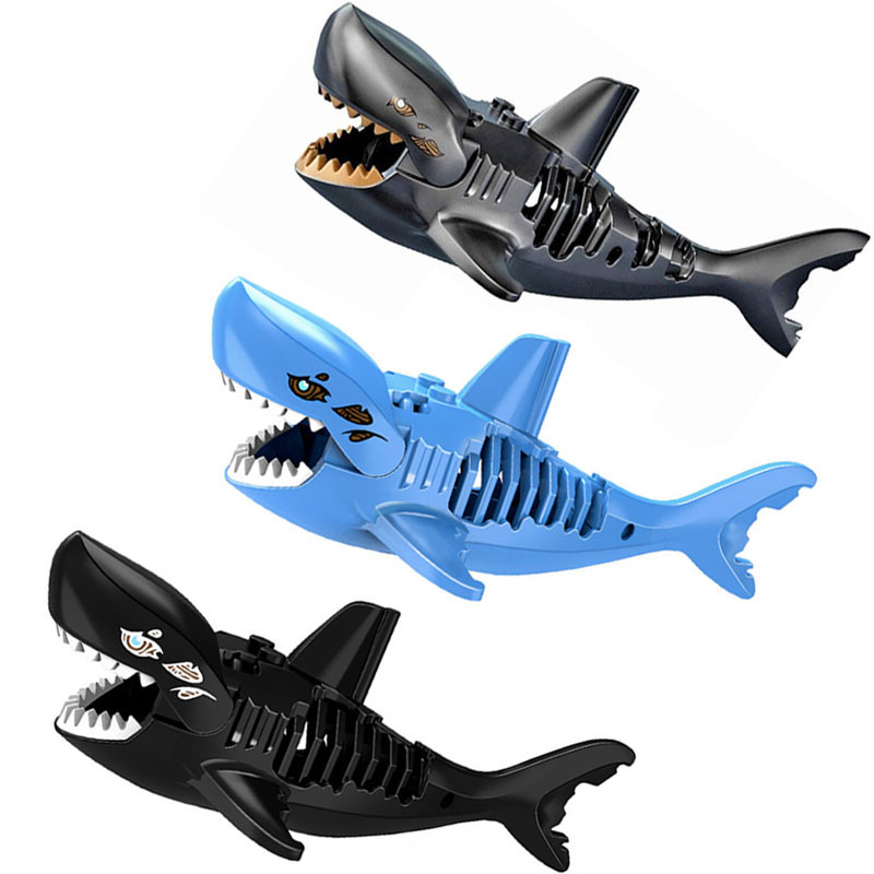 Single Sale Ghost Zombie Shark Action figure Bricks Legoing Pirates Of The CaribbeanPirates of the Caribbean For Children Toys