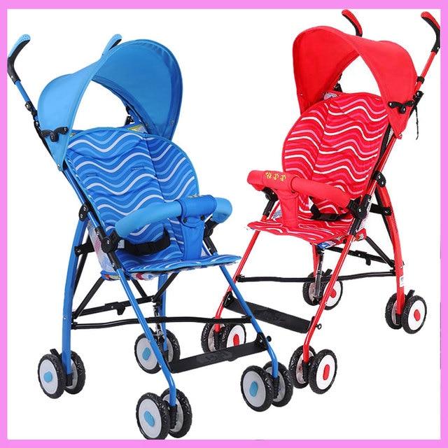 Super Light Small Baby Stroller Portable Sunshade Umbrella Foldable Baby Stroller Car Pram Pushchair Buggy Baby