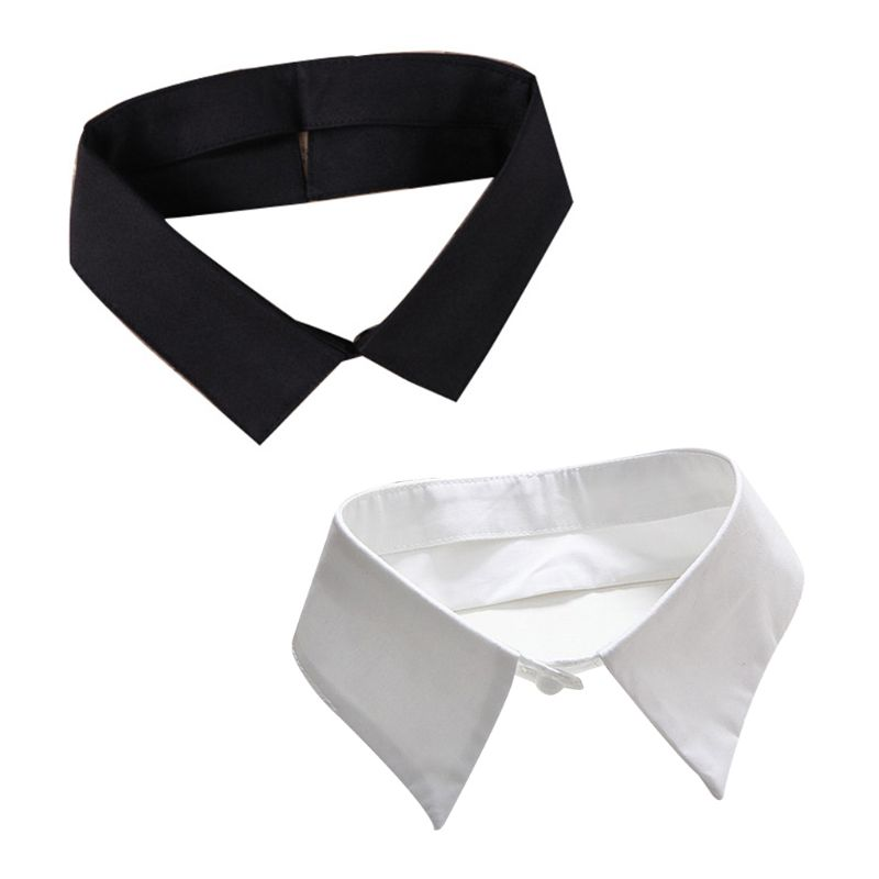 Classic Black/White Collar Shirt Fake Collar Tie Vintage Detachable Collar False Collar Lapel Blouse Top Women/Men Clothes Acces
