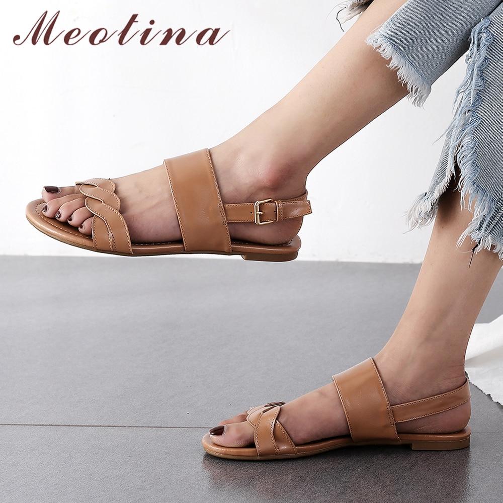 Meotina Women Sandals Summer Shoes