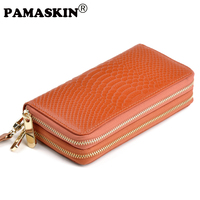 Hot Selling Style Double Zipper Purse Fashion Coin Pruse High Quality Clutch Wallet Card Holder 10