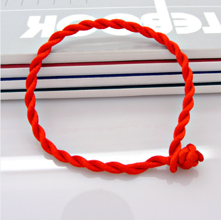 Men Women Hand Braided Red Rope Cord Bracelet Simple Style Couple Lucky String,,