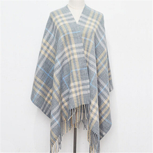 2016 tartan Scarves Women winter Fashion Plaid Cashmere Scarf Women Design warm long scarf cotton gray Tassel Scarfs,MM0135