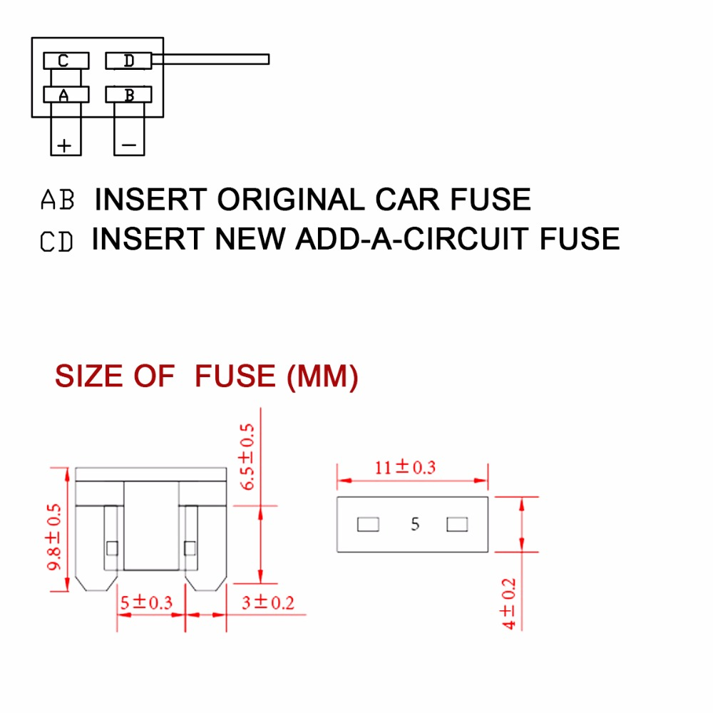 2pcs Add A Circuit Micro Mini Atm Fuse Tap Adapter Holder For Car Panel With Addacircuit Auto Truck In Switches Relays From Automobiles Motorcycles On