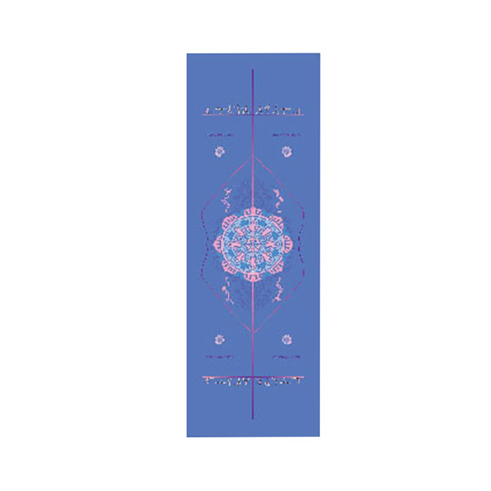 Rectangle Yoga Mat Double-sided Unique Print Position Line Sports Fitness Towels Non Slip Microfiber Yoga Floor Drape 1830*630cm
