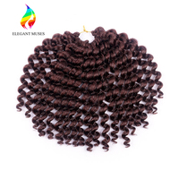 10 Inch Wand Curl Crochet Braiding Afro Kinky Twist Hair Bounce Wand Curl Jumpy Braids Synthetic