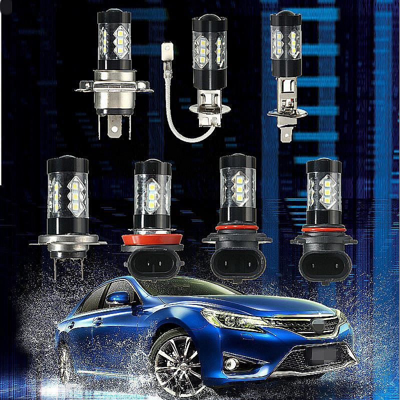 2pcs LED Car Auto Headlight Fog Light Bulb H4 H7 H11 H1 H13 H3 9005/HB3 9006/HB4 480LM White 6000K Automobile Headlamp 12V 24V 2pcs set 72w 7200lm h7 cob led car headlight headlamp auto lamps led kit 6000k headlight bulb light car headlight fog light