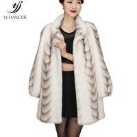 2018 Высокое качество реального норки пальто для Для женщин Китай длинный рукав толстые теплые длинные из натуральной шубы Большие размеры