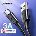 Ugreen USB tipo C para Xiaomi Redmi Note 7 mi9 USB-C Cable para Samsung S9 rápido de carga de Cable USB-C carga de teléfono móvil Cable de
