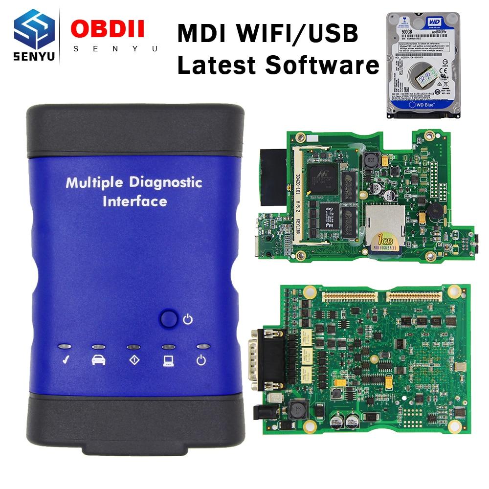 MDI For GM V2019.04 MDI Multiple Diagnostic Interface OBD2 WIFI USB Scanner OBD 2 OBD2 Car Diagnostic Auto Tool MDI WIFI Scanner