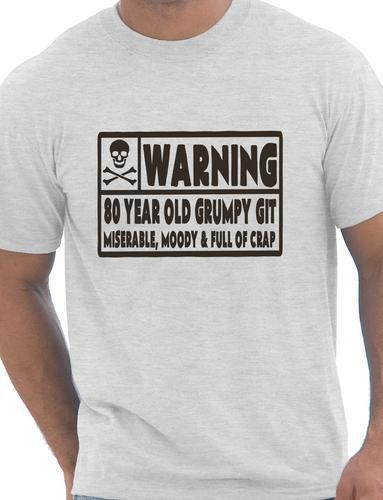 80 Year Old Git Mens Funny 80th Birthday Gift Fathers Day T Shirt More Size And Colors In Shirts From Clothing On Aliexpress