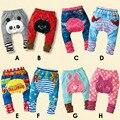 Детские мальчики девочки леггинсы bebe весна осень мультфильм животных брюки одежда для новорожденных носить