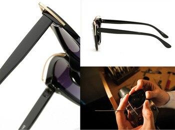 VWKTUUN Wunglasses Women 2020 Vintage Cat Eye Shades Hollow Out Frame Women's Glasses Oversized Sunglasses Woman Brand Designer 8