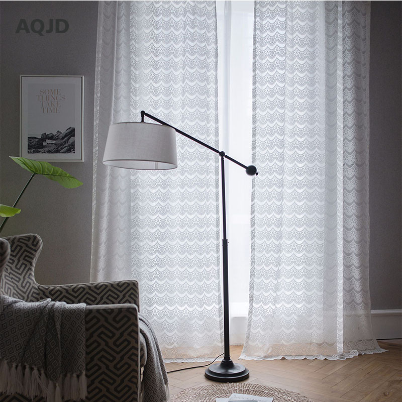 White Cotton Bedroom Curtains
