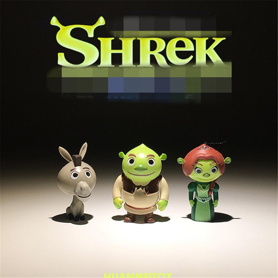 60 ชิ้น 3.5 ซม. Monster Shrek และ donkey การ์ตูนรุ่น PVC Decoraive รูปของเล่นคอลเลกชันของเล่น-ใน ฟิกเกอร์แอคชันและของเล่น จาก ของเล่นและงานอดิเรก บน   1