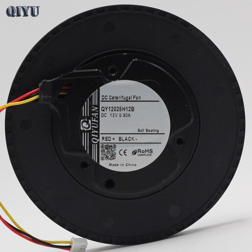 12025 DC 12 v High-end auto fan purificatore d'aria purificatore ventilatore centrifugo 12 cm rotondo doppio cuscinetto a sfera, 120*25 (mm)
