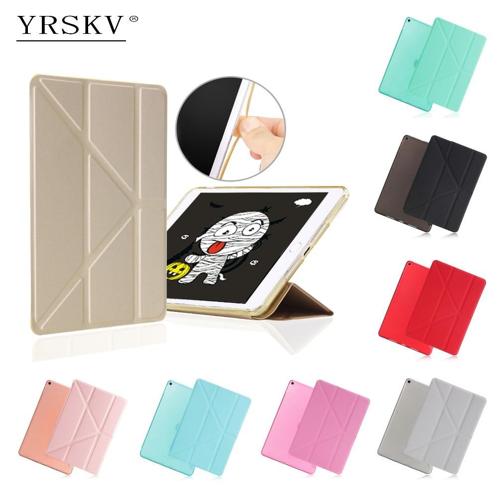 Case for iPad mini 1 mini 2 mini 3 YRSKV PU Leather + TPU Rear Cover Smart Auto Sleep Wake Tablet Case for ipad mini 1/2/3 stylish peony pattern protective pu leather case for ipad mini 1 2 pink multicolored