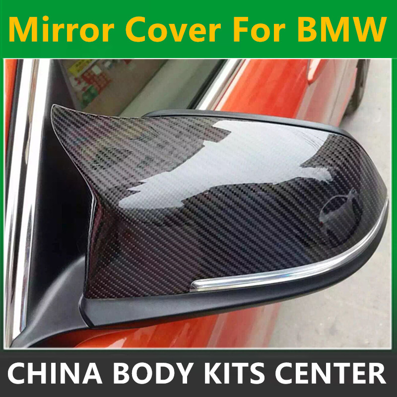 for BMW replacement carbon fiber wing rearview door mirror covers for 1 2 3 4 x1 f20 f22 f30 gt f34 f32 f33 f36 m2 f87 E84 f10 side wing rearview mirror cover caps for bmw sedan 11 13 carbon fiber