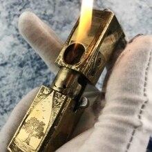 WZH песочные часы со змеей мечом Божией 5 стиль смотреть видео ручной работы латунь 1918 Автоматическая керосиновая трубка узор зажигалка