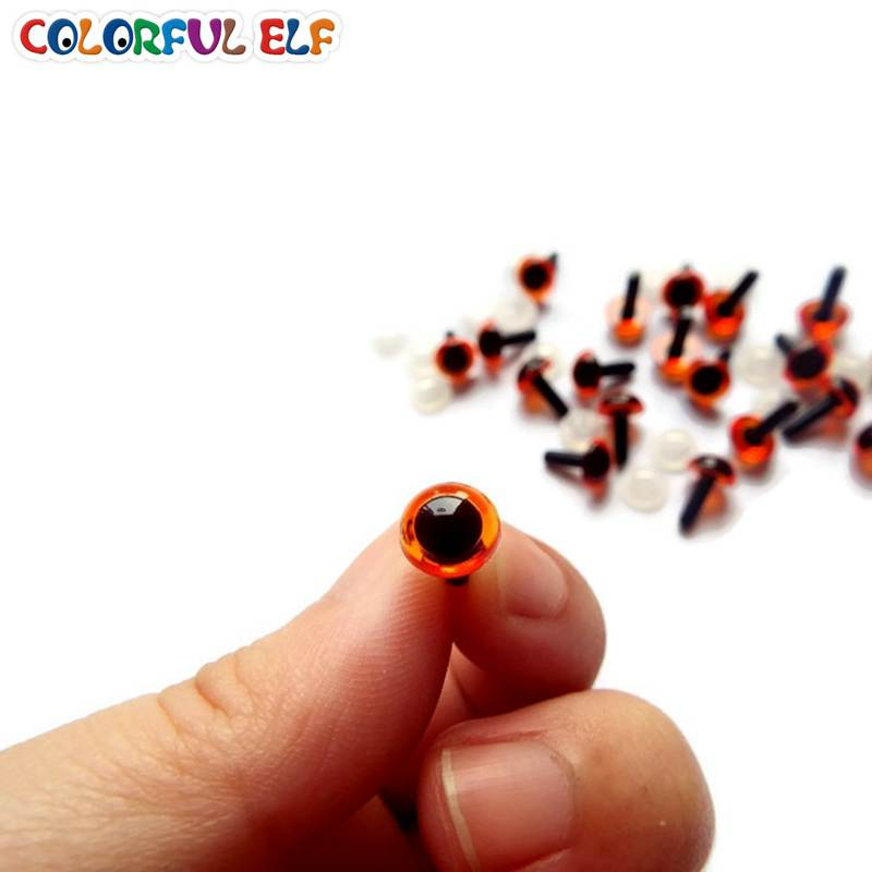 8 x Crystal Amber 7.5mm Eyes with Washers Soft Toy Bear Making Accessory