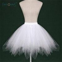 2017 Cheap White Black Red Short Bridal Petticoat Womens Skirt Tutu Skirt Tulle Many Colors Party
