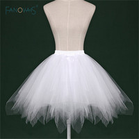 2017 Cheap White Black Red Short Bridal Petticoat Womens Skirt Tutu Skirt Tulle Many Colors Party