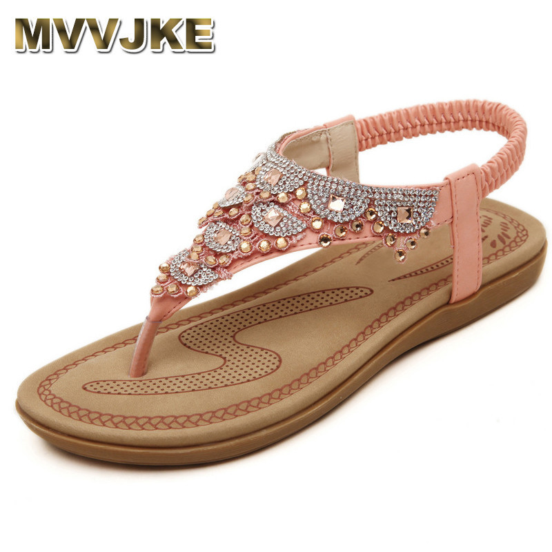MVVJKE 2018 Summer New Womens Sandals Ankle Strap Pink White Party Shoes Beach Sandals Bohemia Women Casual Shoes FlatsMVVJKE 2018 Summer New Womens Sandals Ankle Strap Pink White Party Shoes Beach Sandals Bohemia Women Casual Shoes Flats