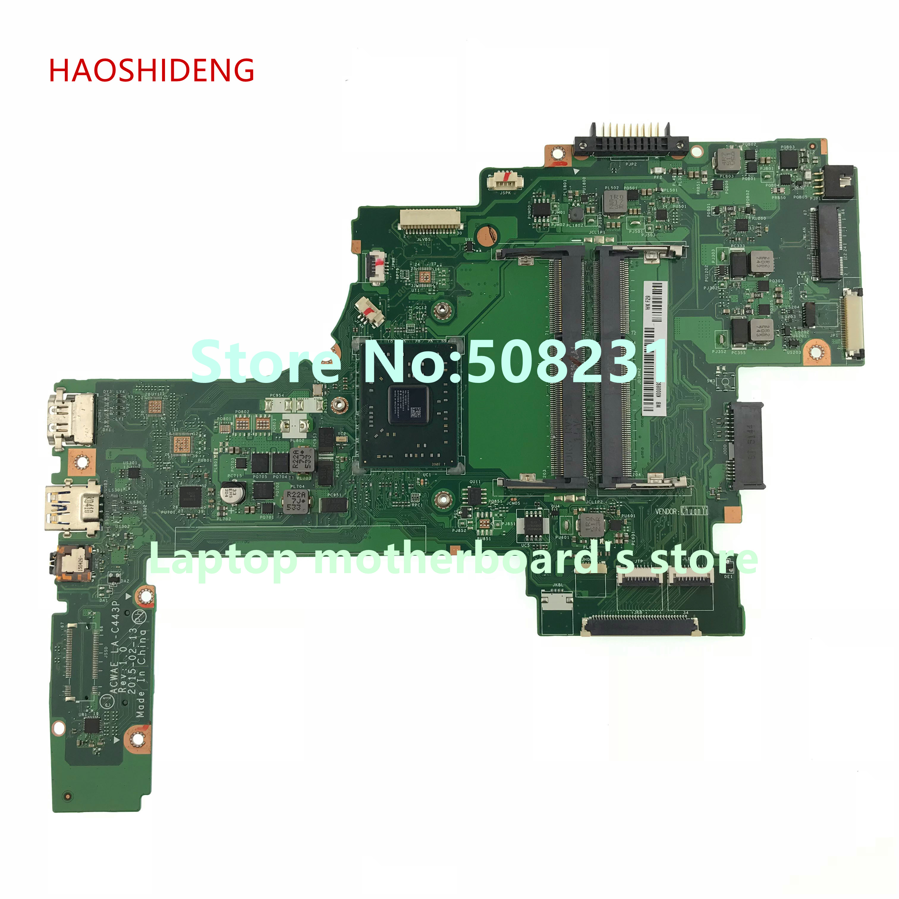 HAOSHIDENG K000893700 ACWAE LA-C443P for Toshiba L45D L45D-C4202W series Laptop Motherboard fully Tested !