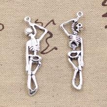 10 шт Подвески скелет человека Хэллоуин 42x8 мм Античная решений