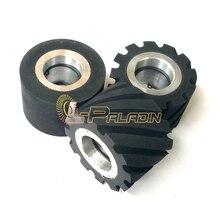 75*50 мм Резина Связаться Колеса Ленточно-Шлифовальный Станок Часть с Отверстием для 6202 или 25 мм ID
