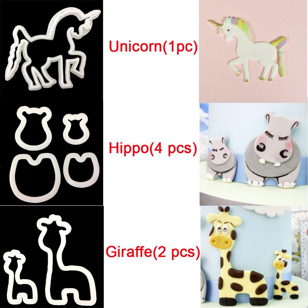 Practical Useful Lovely Craft Unicorn Giraffe Hippo Cookie Cutter ...