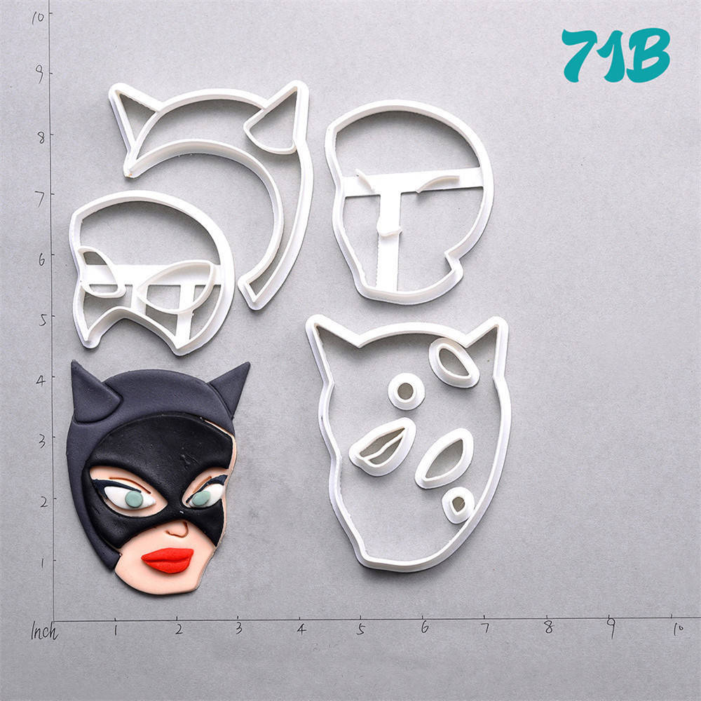 Catwoman Design Cookie Cutter Set Custom Made 3D Printed Fondant Cupcake Cutter Kitchen Accessories Cake Decorating Tools in Cookie Tools from Home Garden