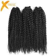 Synthetic Braiding Hair Per-loop Island Twists Unraveled Senegalese Twist Kinkly Curly #2 Brown Crochet Braids 16 3 pcs/pack