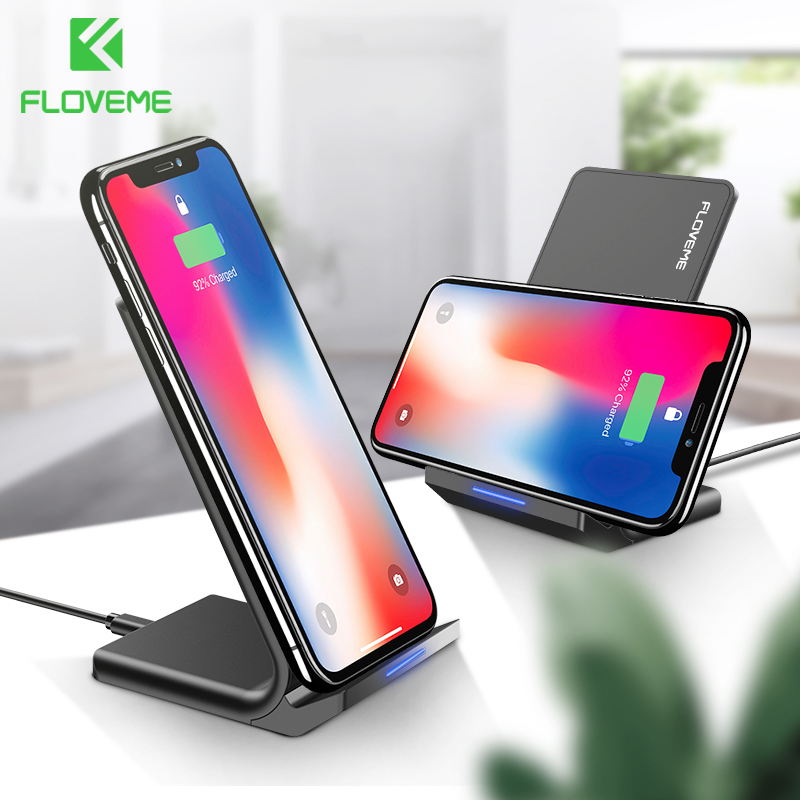US $15.99 40% OFF|FLOVEME 10W Qi Wireless Charger For iPhone 8 X Xs For Samsung Galaxy S10 Plus S8 S9 S7 Edge Fast Charger Wireless Charging