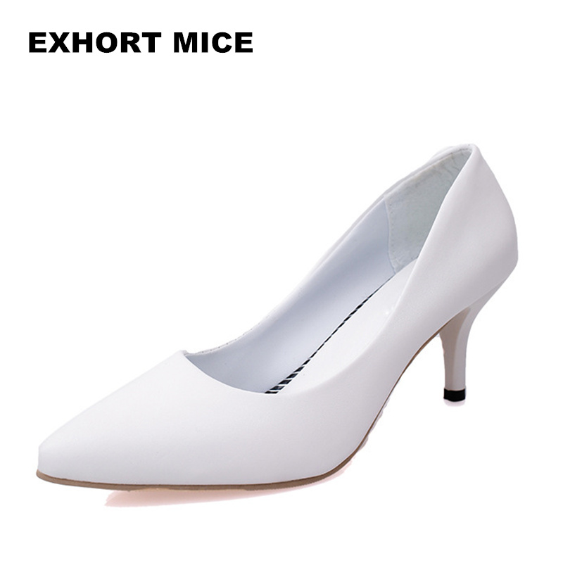 2019 Super High Women Shoes Pointed Toe Pumps Patent Leather Dress High Heels Boat Wedding Shoes Zapatos Mujer Matte